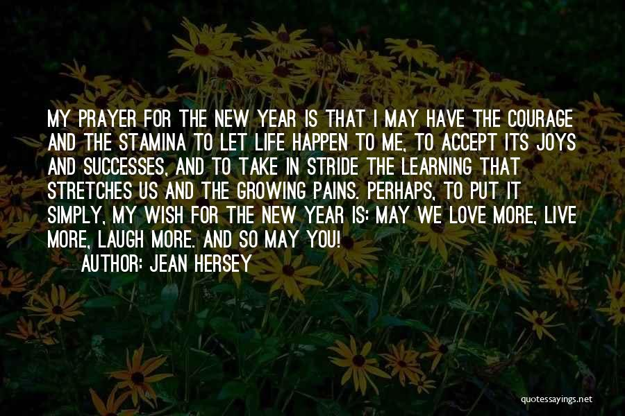 Joys In Life Quotes By Jean Hersey
