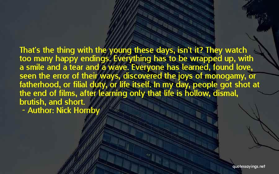 Joys In Life Quotes By Nick Hornby