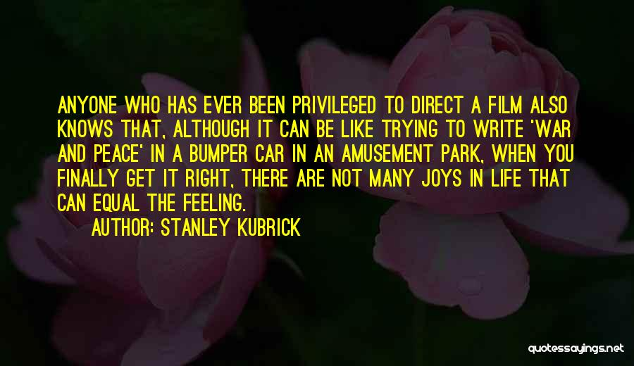 Joys In Life Quotes By Stanley Kubrick