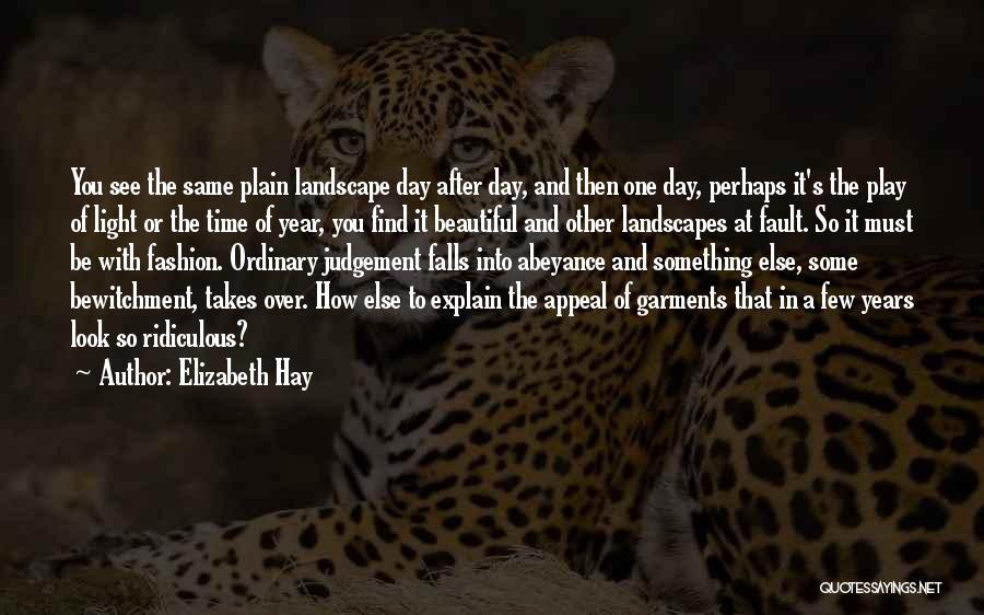 Judgement Quotes By Elizabeth Hay