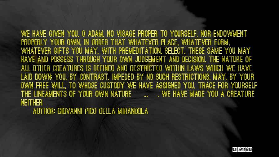 Judgement Quotes By Giovanni Pico Della Mirandola