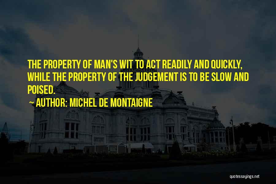 Judgement Quotes By Michel De Montaigne