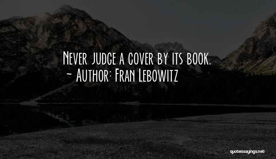 Top 13 Quotes Sayings About Judging Book By Its Cover