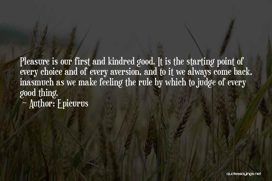 Judging Others Choices Quotes By Epicurus