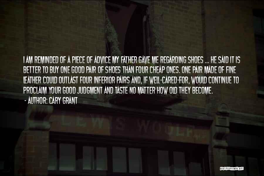 Judgment Quotes By Cary Grant