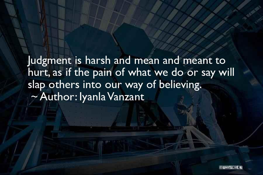 Judgment Quotes By Iyanla Vanzant