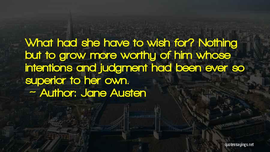 Judgment Quotes By Jane Austen