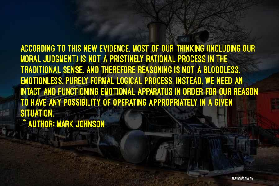 Judgment Quotes By Mark Johnson