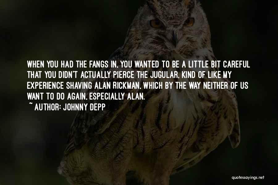 Jugular Quotes By Johnny Depp