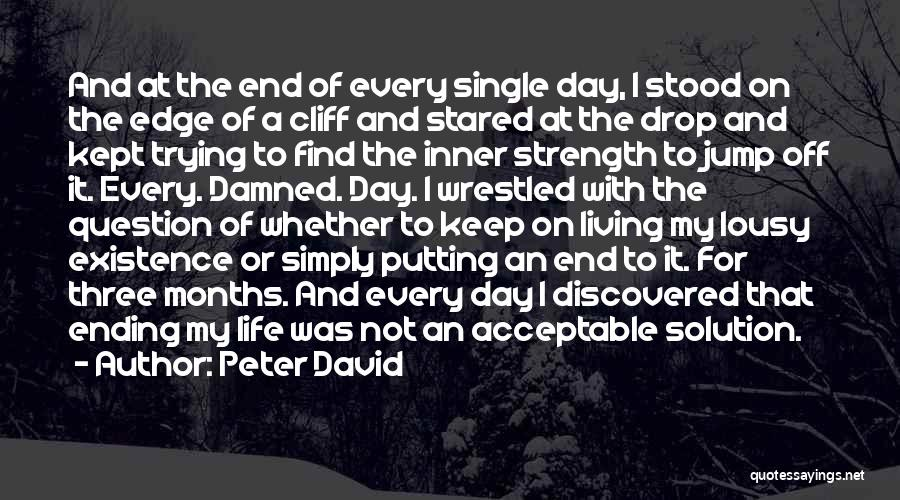 Jump Off The Edge Quotes By Peter David