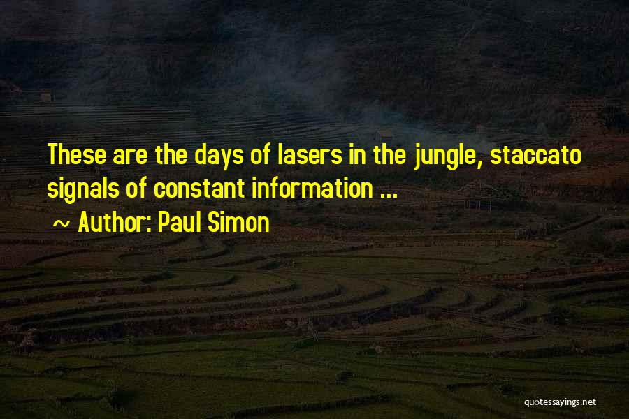 Jungle Quotes By Paul Simon