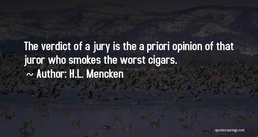 Juror 2 Quotes By H.L. Mencken