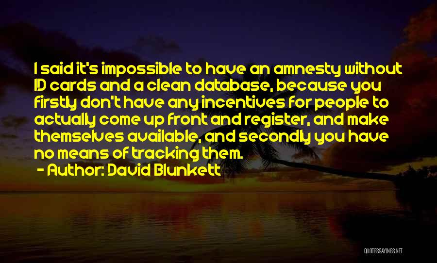 Just Because Cards Quotes By David Blunkett