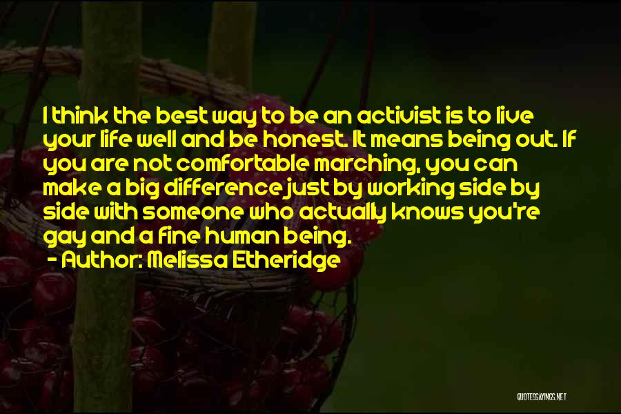 Just Being Honest Quotes By Melissa Etheridge