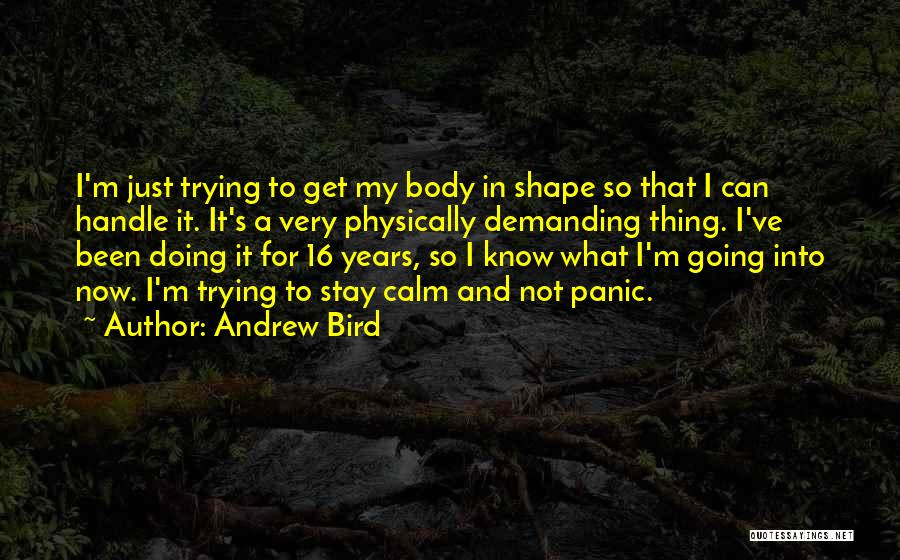 Just Doing My Thing Quotes By Andrew Bird