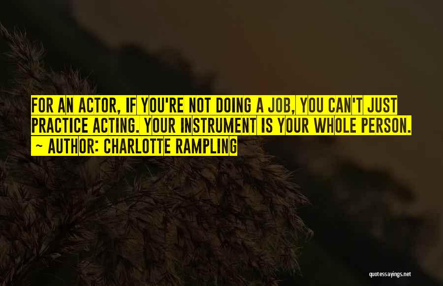 Just Doing Your Job Quotes By Charlotte Rampling