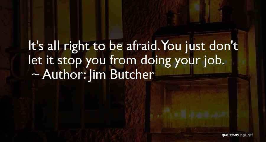 Just Doing Your Job Quotes By Jim Butcher