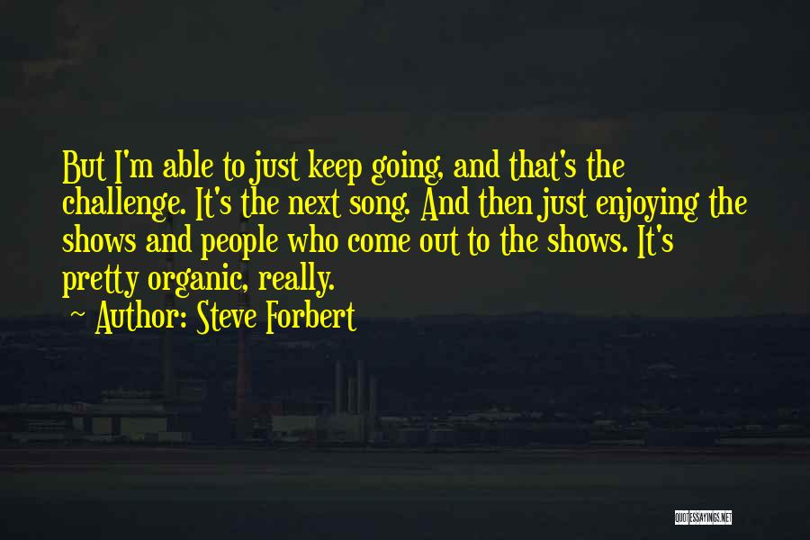 Just Keep Going Quotes By Steve Forbert