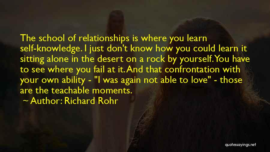 Just Know You're Not Alone Quotes By Richard Rohr