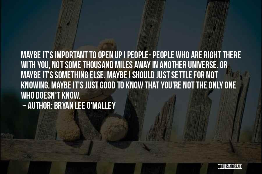 Just Knowing You're There Quotes By Bryan Lee O'Malley