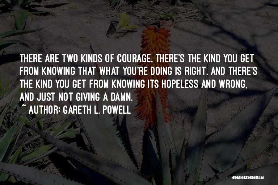 Just Knowing You're There Quotes By Gareth L. Powell