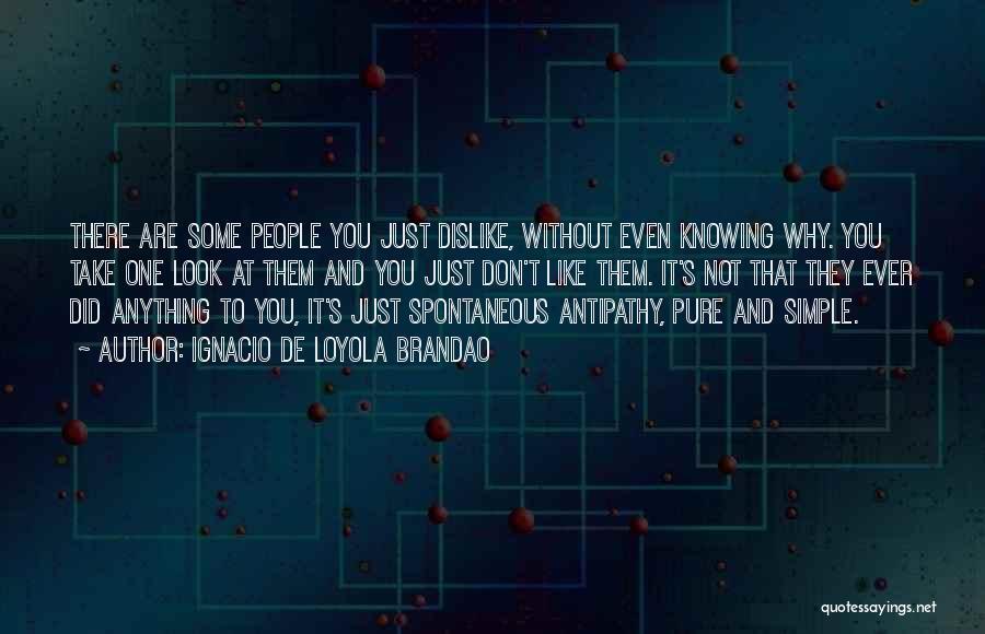 Just Knowing You're There Quotes By Ignacio De Loyola Brandao