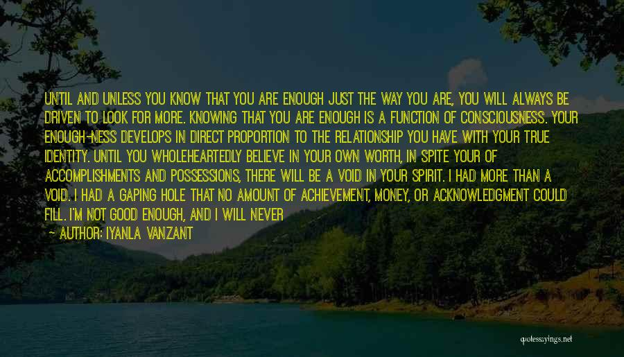 Just Knowing You're There Quotes By Iyanla Vanzant