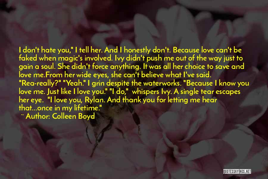 Just Letting It Be Quotes By Colleen Boyd
