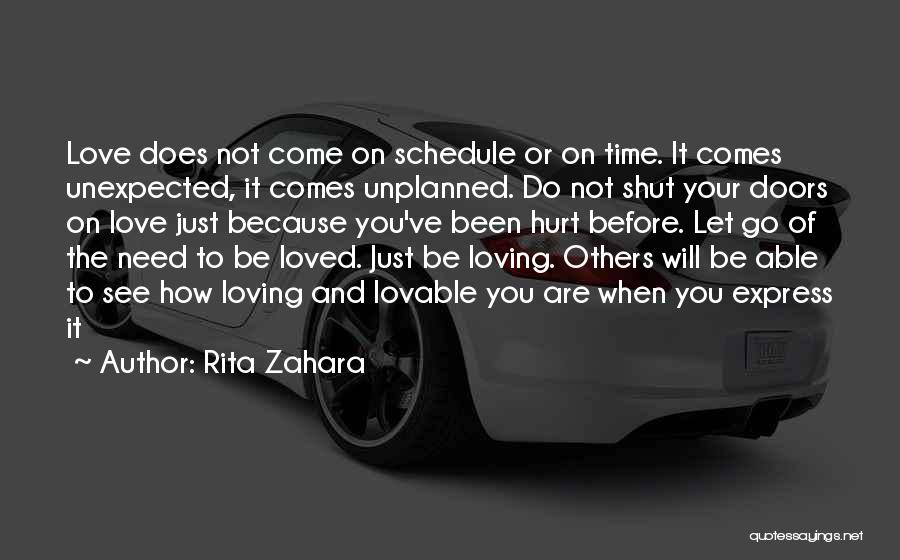 Just Letting It Be Quotes By Rita Zahara