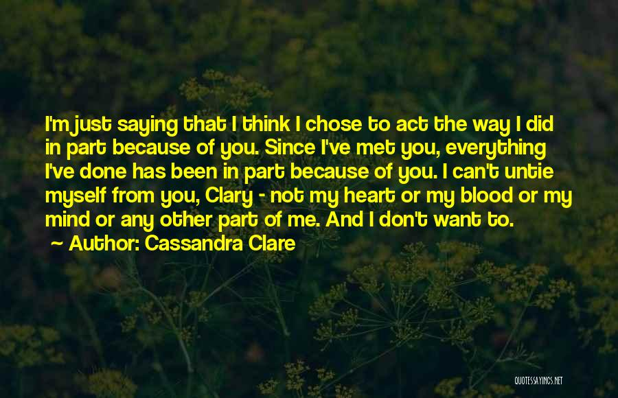 Just Met Quotes By Cassandra Clare