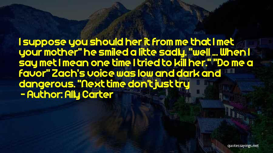 Just Met You Quotes By Ally Carter