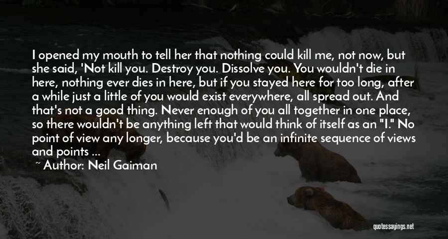 Just Not Enough Quotes By Neil Gaiman