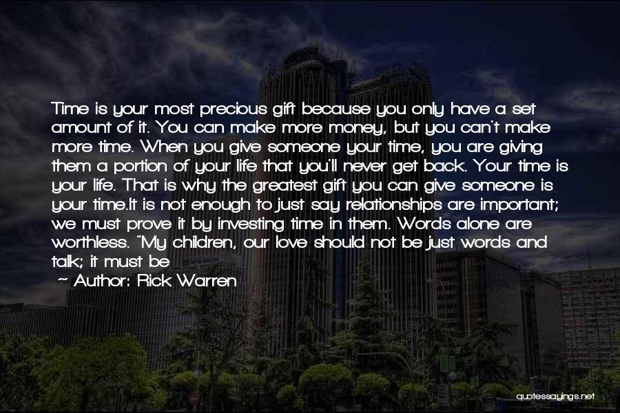 Just Not Enough Quotes By Rick Warren