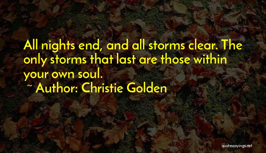 Just One Of Those Nights Quotes By Christie Golden