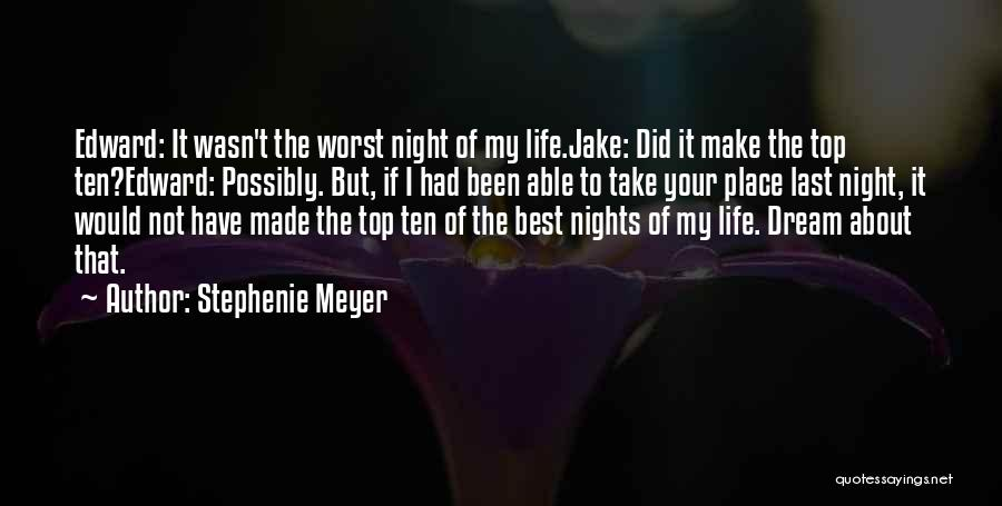 Just One Of Those Nights Quotes By Stephenie Meyer