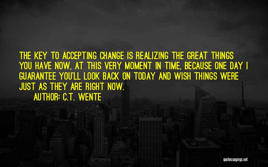 Just One Wish Quotes By C.T. Wente