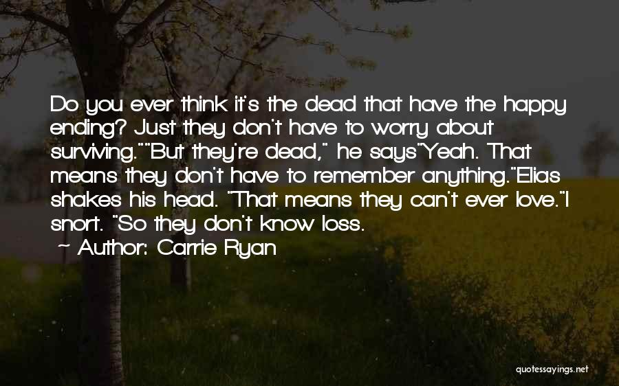 Just Remember That I Love You Quotes By Carrie Ryan