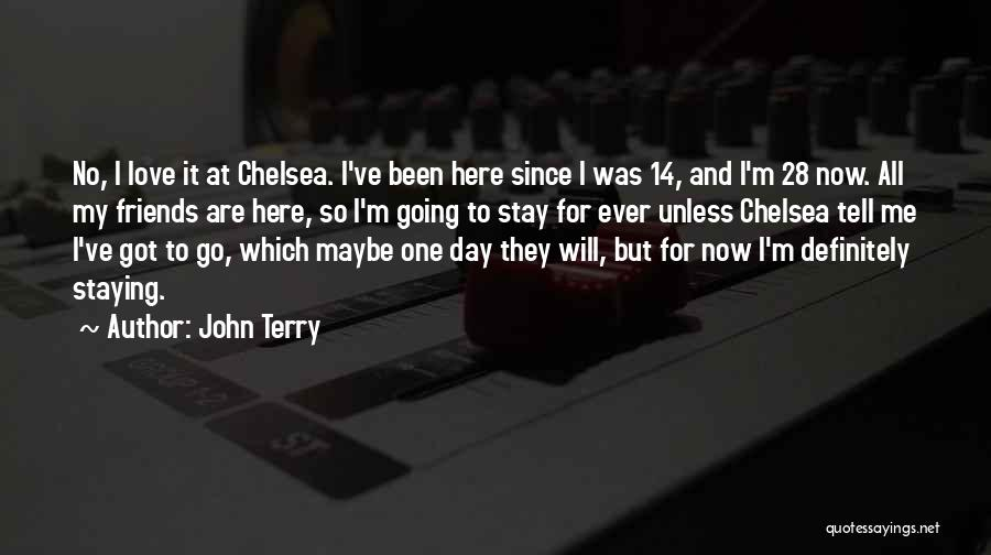 Just Staying Friends Quotes By John Terry