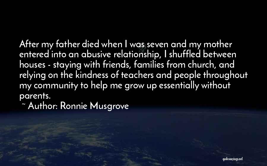 Just Staying Friends Quotes By Ronnie Musgrove