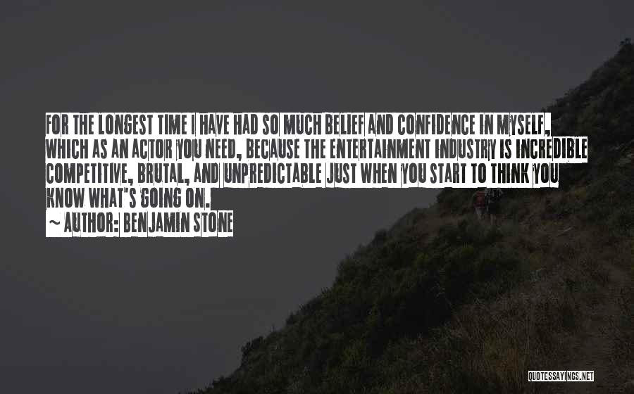 Just The Start Quotes By Benjamin Stone