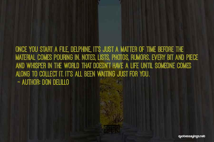 Just The Start Quotes By Don DeLillo