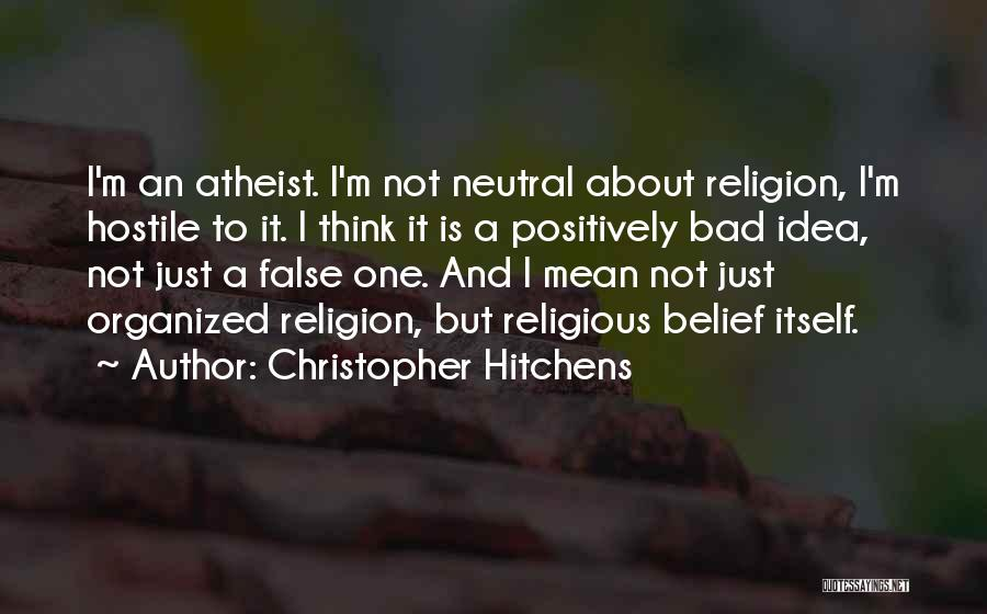 Just Think About It Quotes By Christopher Hitchens