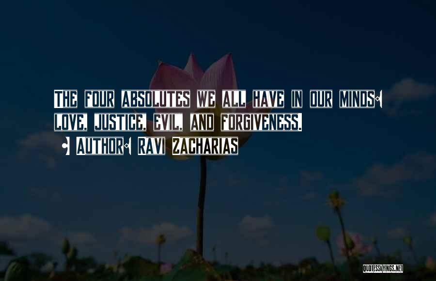 Justice And Forgiveness Quotes By Ravi Zacharias