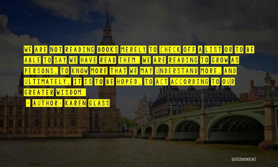 Karen Glass Quotes 2010510