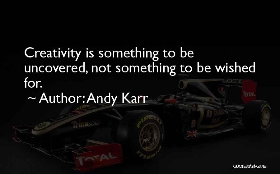 Karr Quotes By Andy Karr