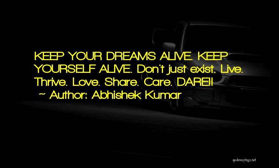 Keep Dreams Alive Quotes By Abhishek Kumar