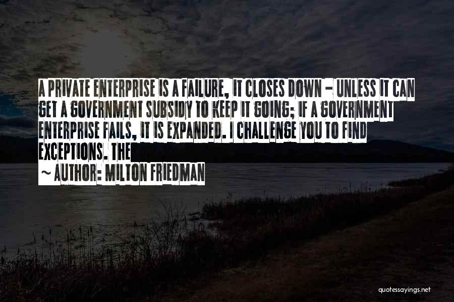 Keep It Private Quotes By Milton Friedman