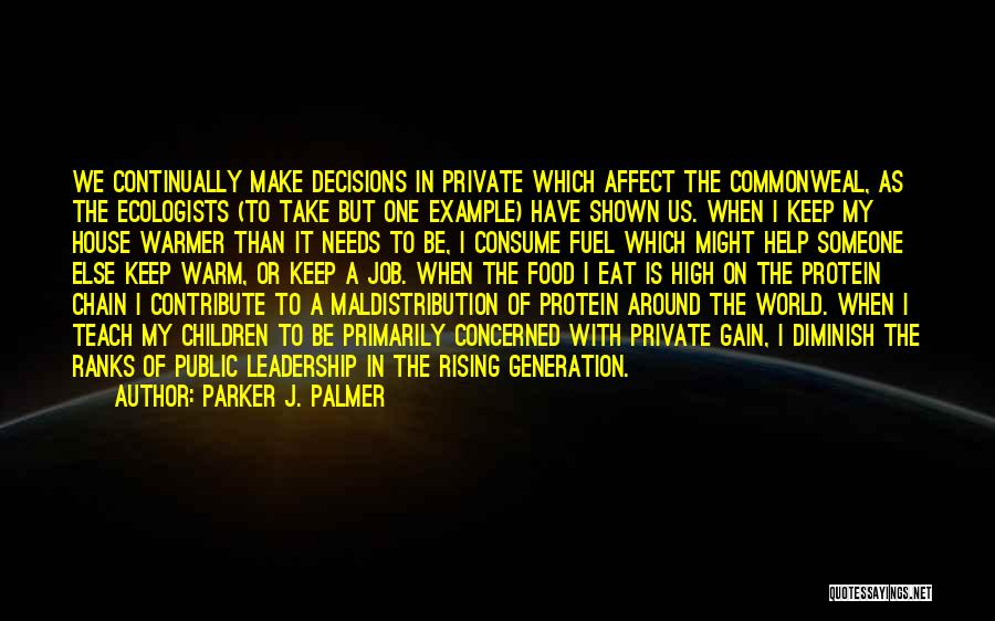 Keep It Private Quotes By Parker J. Palmer
