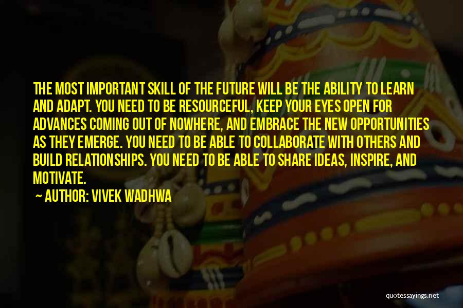 Keep One Eye Open Quotes By Vivek Wadhwa