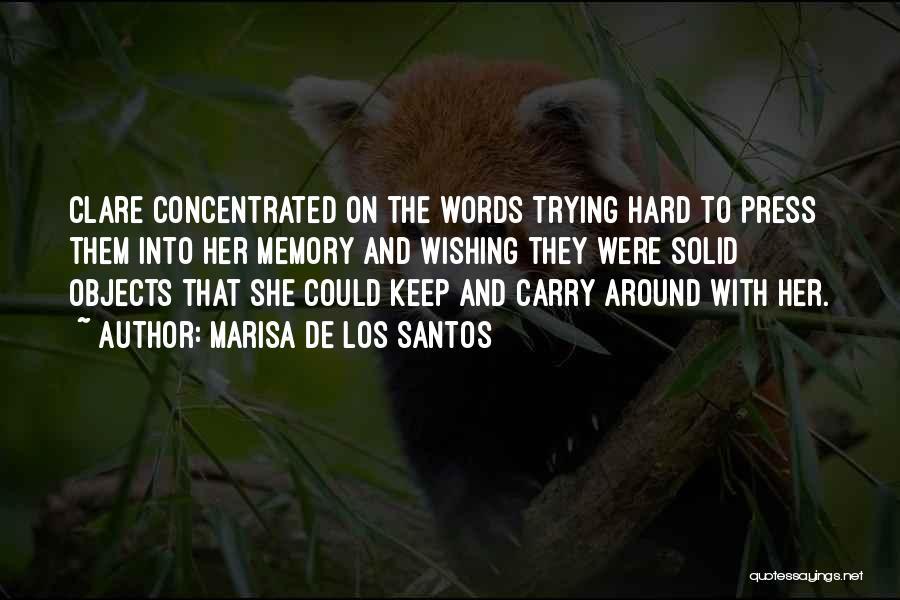 Keep Trying Hard Quotes By Marisa De Los Santos